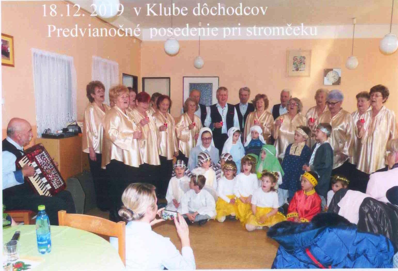 Vystúpenie v Klube dôchodcov v Žiari nad Hronom